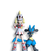 Masters Dream Team Maker Korrina and Lucario.png