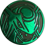 DP6 Green Rayquaza Coin.png